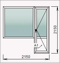 Балконный блок с дверью и глухой створкой